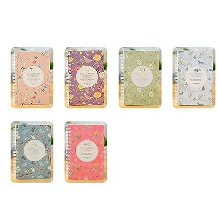 Gespout Cuaderno Notas Infantil Papelería Libreta Papel Cuero Blanco Cuadernos Estudiante de Escuela Agenda Libro Notas Pintura Viaje Cursos Regalo ...
