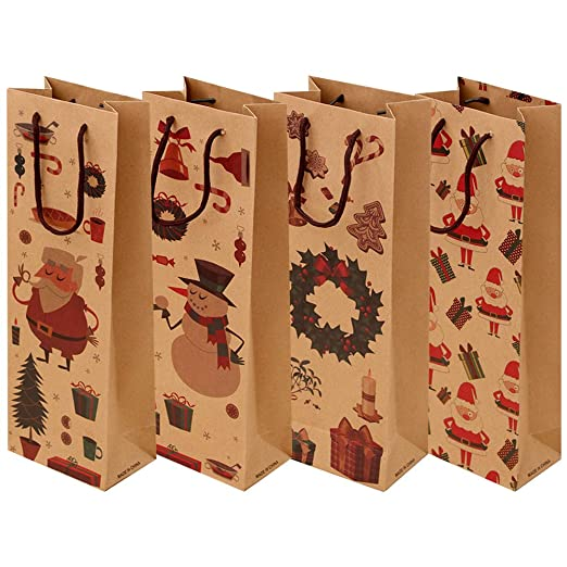 Paquete de 12 Bolsas de Vino de Papel Kraft para Licores ...