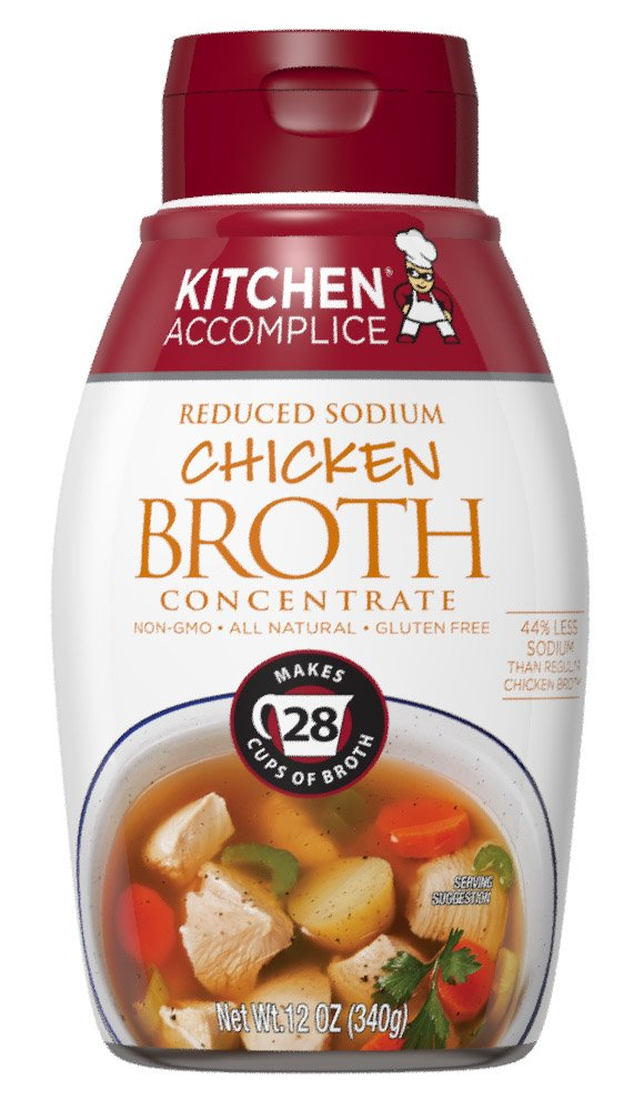 Kitchen Accomplice Reduced Sodium Chicken Style Broth Concentrate, 12 oz