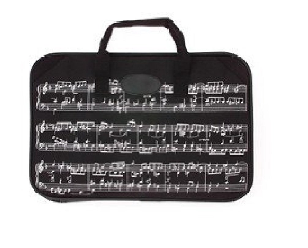 Trenton Gifts Sheet Music and Portfolio Briefcase With Music Design | Black