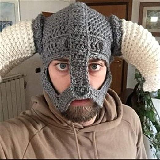 JUFENG Vikingos para Hombres con Gorro De Barba Falsa Sombreros ...