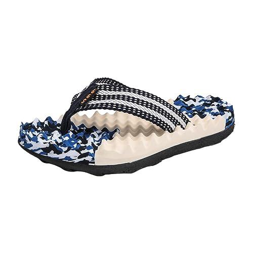 d67508d427828 Padgene Men s Flip-Flops Non-Slip Light Weight Beach Slippers Platform  Thong Sandals (