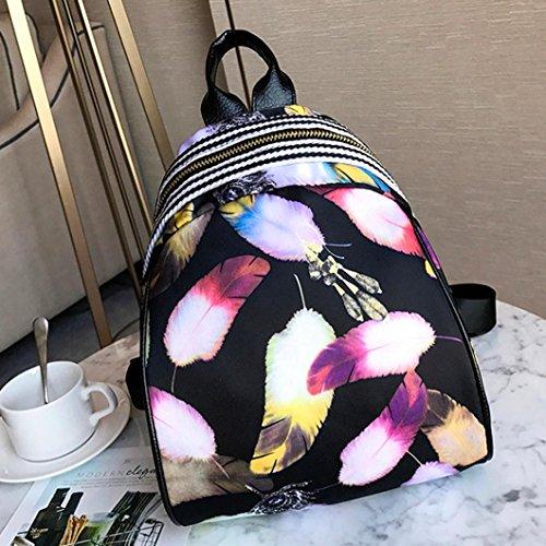 Preppy School Handbag C Print Nylon Style Shoulder Backpack Waterproof Cute Travel Multifunction Bag Bags Lightweight Daypack Zerototens zaxPFP
