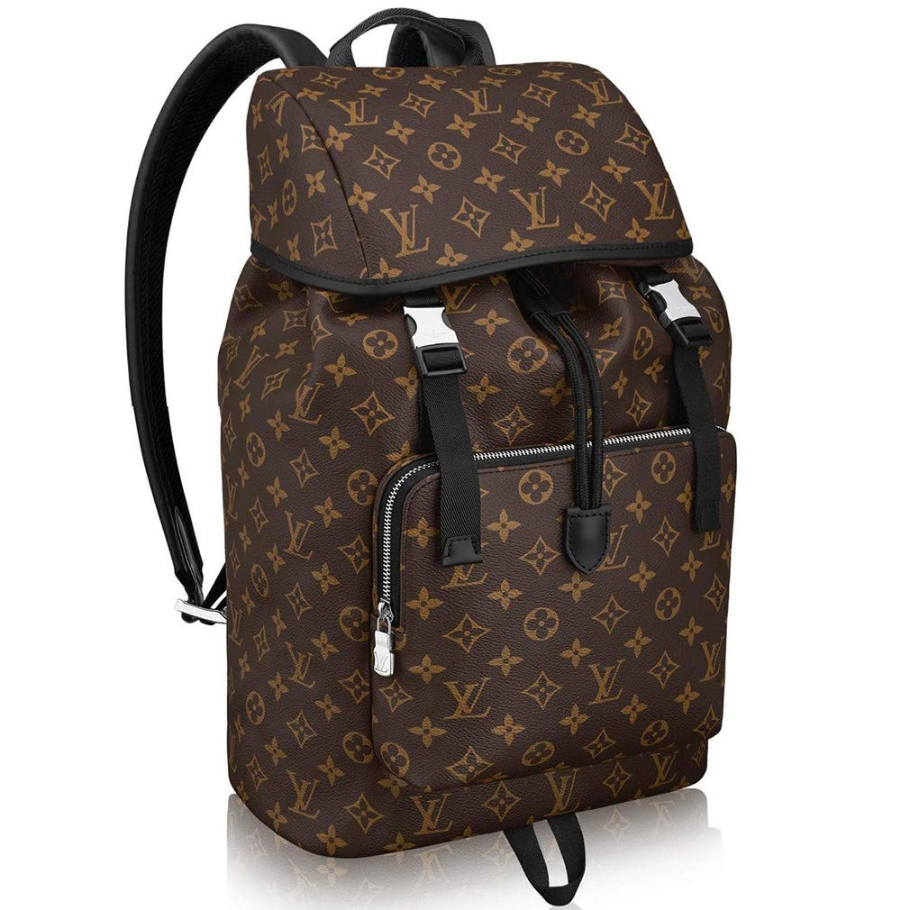 5801b62ffc3d Amazon.com  Louis Vuitton Monogram Macassar Canvas Zack Backpack Handbag  Article  M43422  Shoes