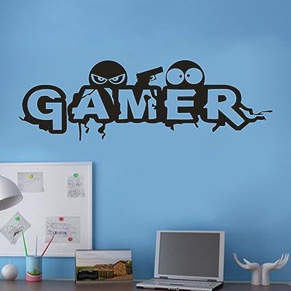 Decorazioni Per Pareti Adesive.Topgrowth Gamer Scritte Adesive Per Pareti Wall Sticker Adesivo Da Muro Decorazioni Casa Adesivi Per Carta Da Parati