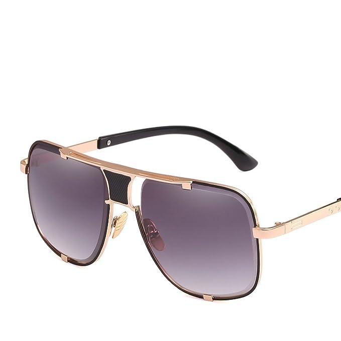 Amazon.com: Gafas de sol para hombre de gran caja, espejo de ...