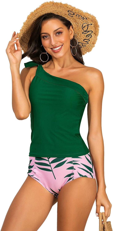 Zexxxy Bikini Damen Set Hohe Taille Blumen Halfter Bikini Badeanzug Push Up Bademode