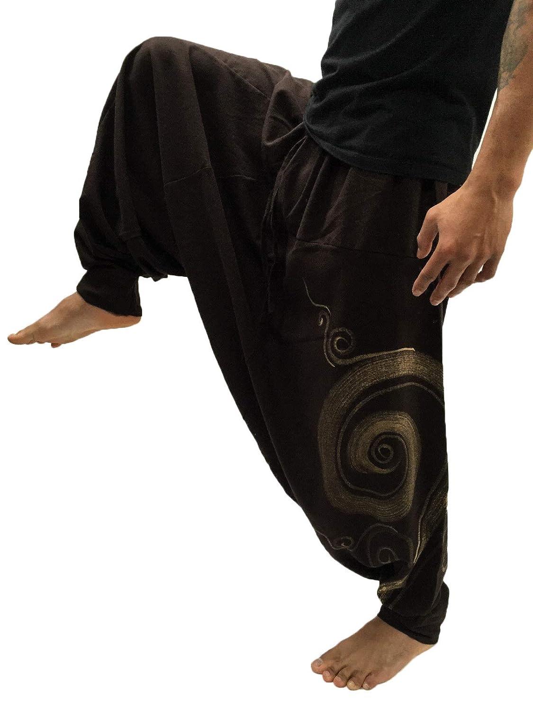 Amazon.com: Douhoow - Pantalones para hombre, estilo bohemio ...
