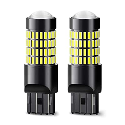 7440 LED Bulb 1400 Lumens 102-SMD 4014 LED Chipsets 7443 7441 7444 992 W21W Xenon White Extremely Bright LED Bulbs with Projector for Backup Reverse Lights,Tail Brake Lights (Pack of 2): Automotive