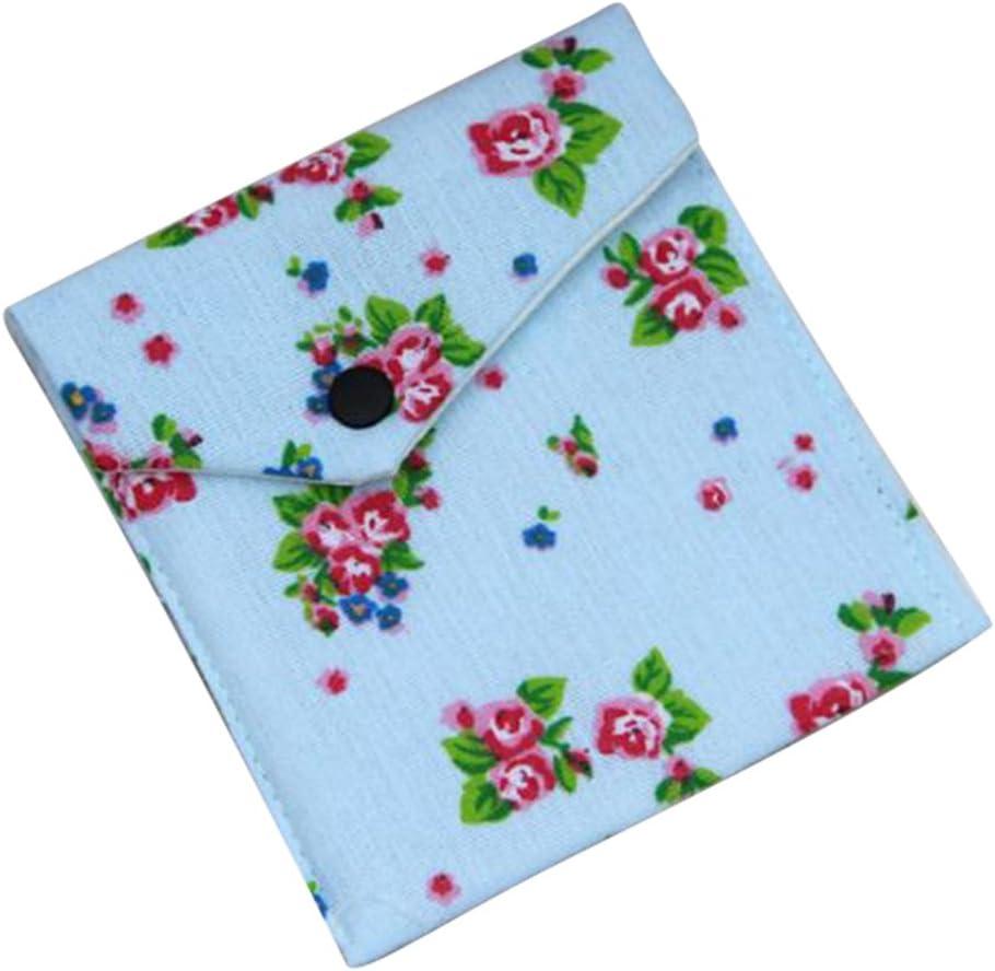 bigboba Mujer Niña Cute portátil sanitarias Pad Bolsa Algodón Floral toalla sanitaria organizador Holder maquillaje monedero pequeñas bolsas de comodidad: Amazon.es: Hogar