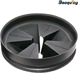 QCB-AM Black Rubber Quiet Collar Sink Baffle by Beaquicy - Replacement for InSinkErator - Disposal Splash Guard Garbage Stopper for Evolution Series
