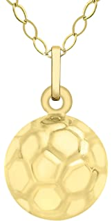 Carissima Gold 9ct Yellow Gold Football Charm Pendant Yt00NM