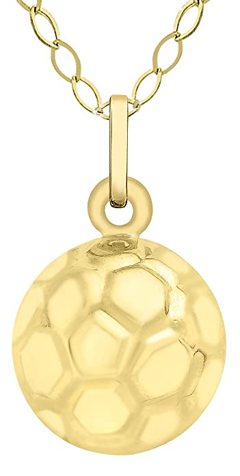 Carissima gold 9ct yellow gold football pendant on trace chain carissima gold 9ct yellow gold football pendant on trace chain necklace of 46cm18quot aloadofball Image collections