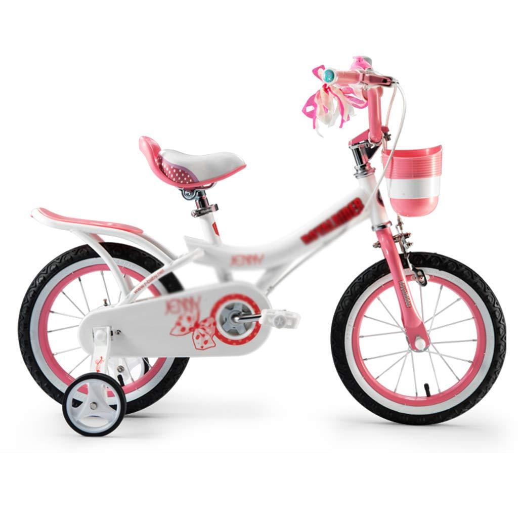 Bici per bambini Bicicletta per Bambini Bicicletta Equitazione Liscio Bambino Passeggino Staccabile stabilizzatore Gioventù Spinta Scooter (Colore   Bianca, Dimensione   14inch)