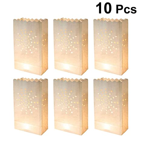 Amazon.com: 10pcs Sun Candle Paper Bag Lantern Lampshade ...