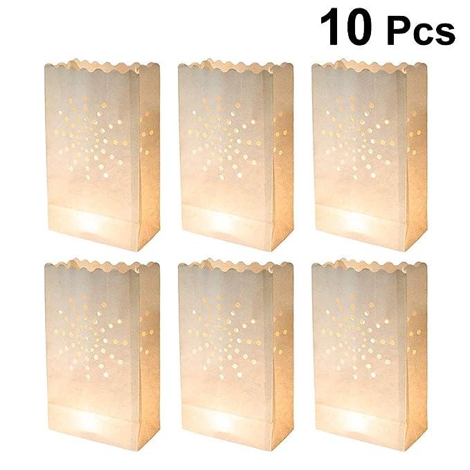 LEDMOMO - Bolsa de papel para velas, bolsa luminosa para ...