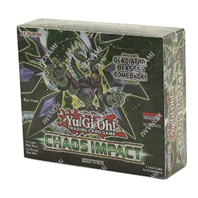 Yugioh Chaos Impact Booster Box 1st Edition TCG 24 Packs Factory Sealed: Toys & Games
