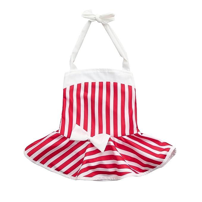 Bikini de bebé Niñas Rayas Bowknot Bañadores Traje de baño ...