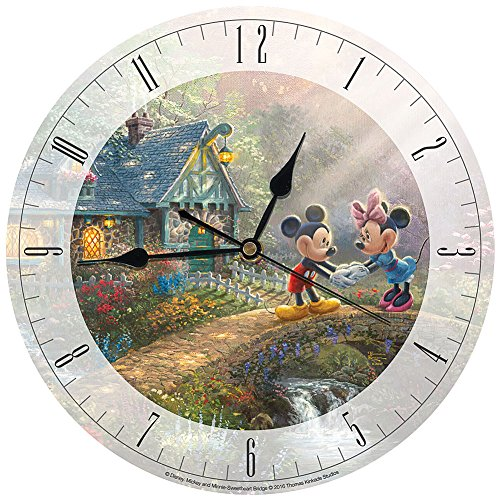 Disney Mickey & Minnie Sweetheart Love Thomas Kinkade Limited Edition Clock (Clocks Disney Wall)