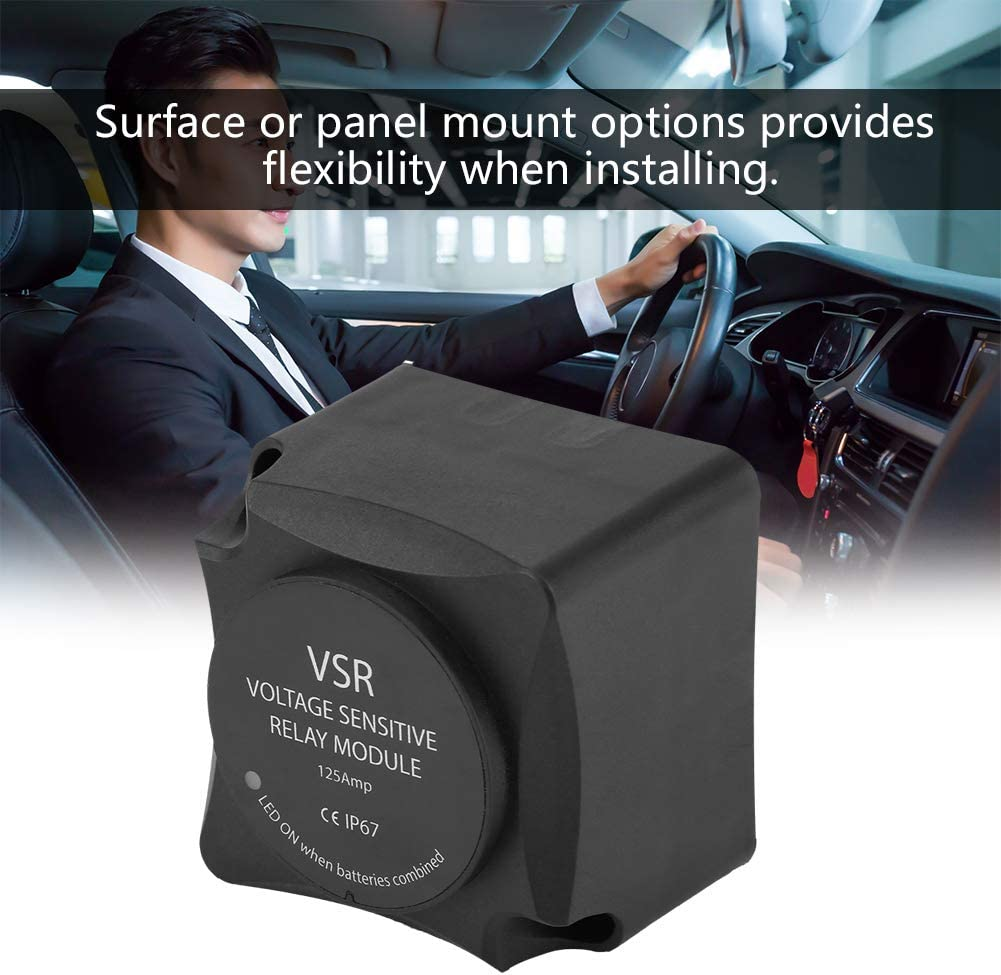 VSR Voltage Sensitive Relay VSR // Automatic Charging Relay 125A Dual Battery Isolator