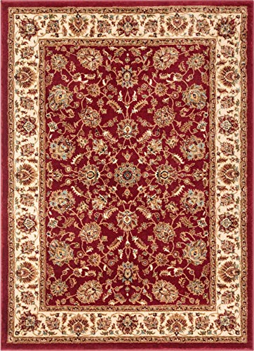 riental Area Rug Red 3x5 4x6 (3'11