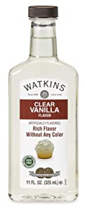 Watkins Clear Vanilla Flavor Extract, 11 oz. Bottle, 1 Count (Packaging May Vary), Clear.