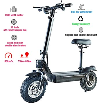 Scooter Eléctrico, 1000W Plegable Patinete e-Scooter ...
