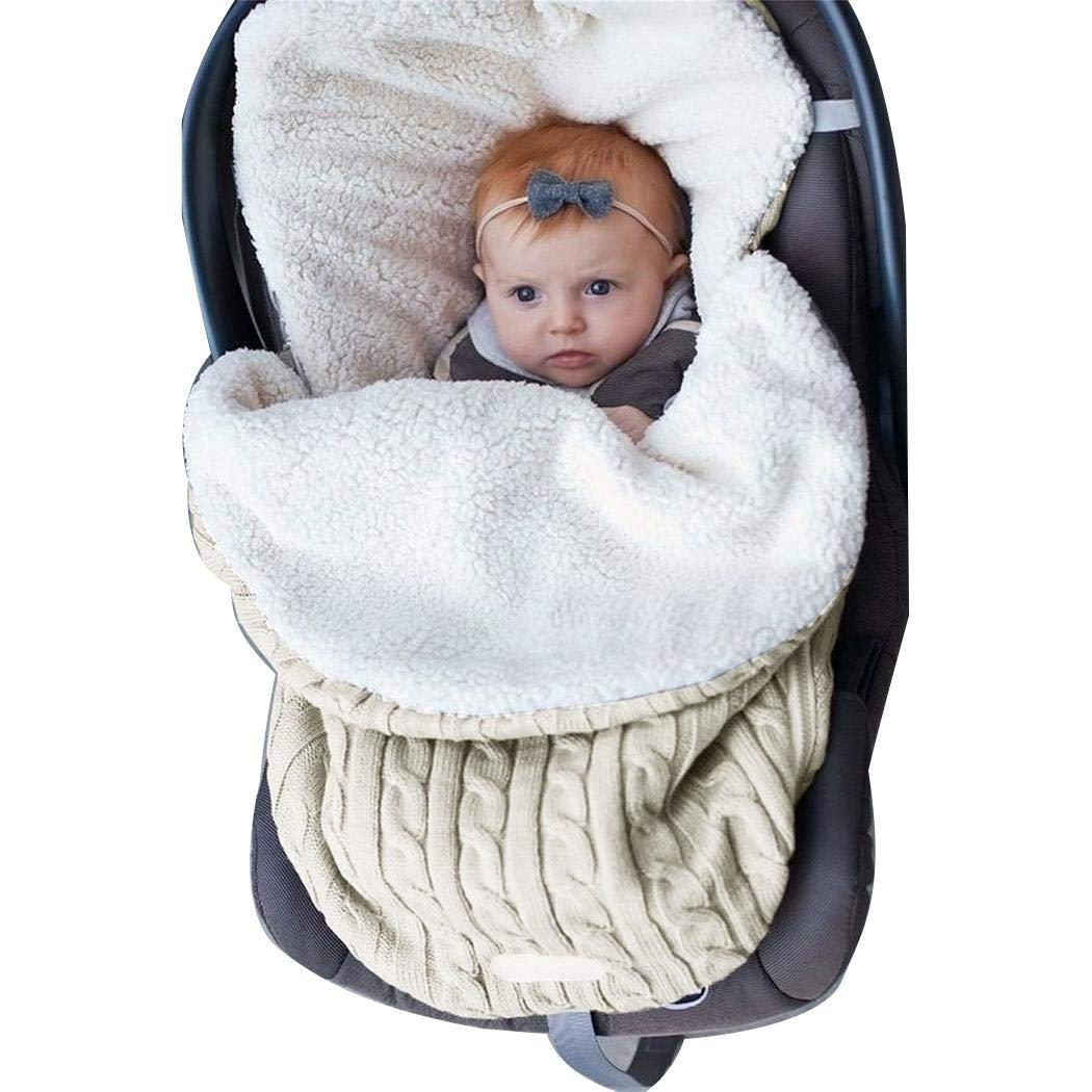 Haonike Infant Baby Swaddle Schlafsack Soft Sleep Sack Kinderwagen Wrap Decke Zweiteilige Schlafanz/üge