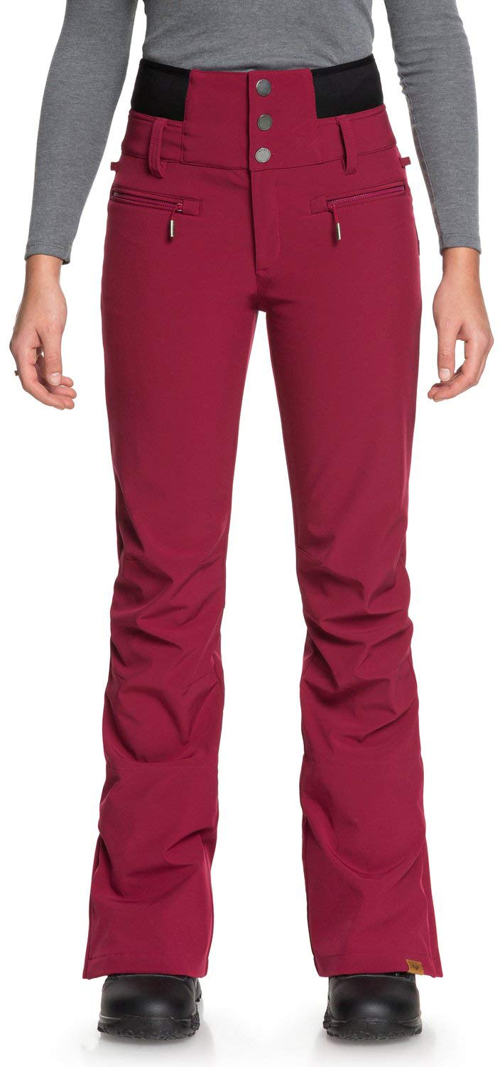 Roxy Women's Rising High 15K Snow Pants Beet Red Small