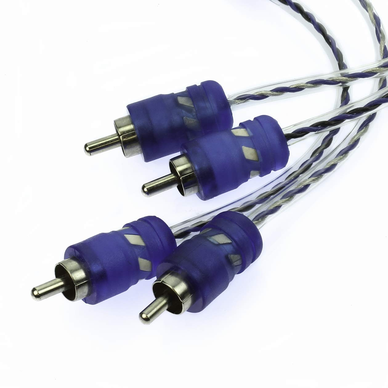 VOODOO 1.6 ft 0.5 Meter RCA interconnect Cable Blue 100/% OFC 12Volt Distributors