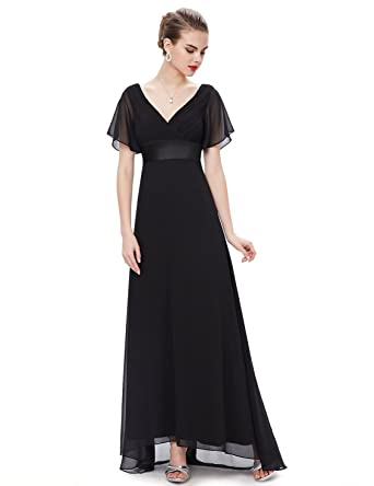 Ever Pretty Women's Short Sleeve V-Neck Long Evening Dress 09890 ...