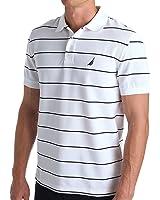 Nautica Men's Classic Short Sleeve Striped Polo Shirt