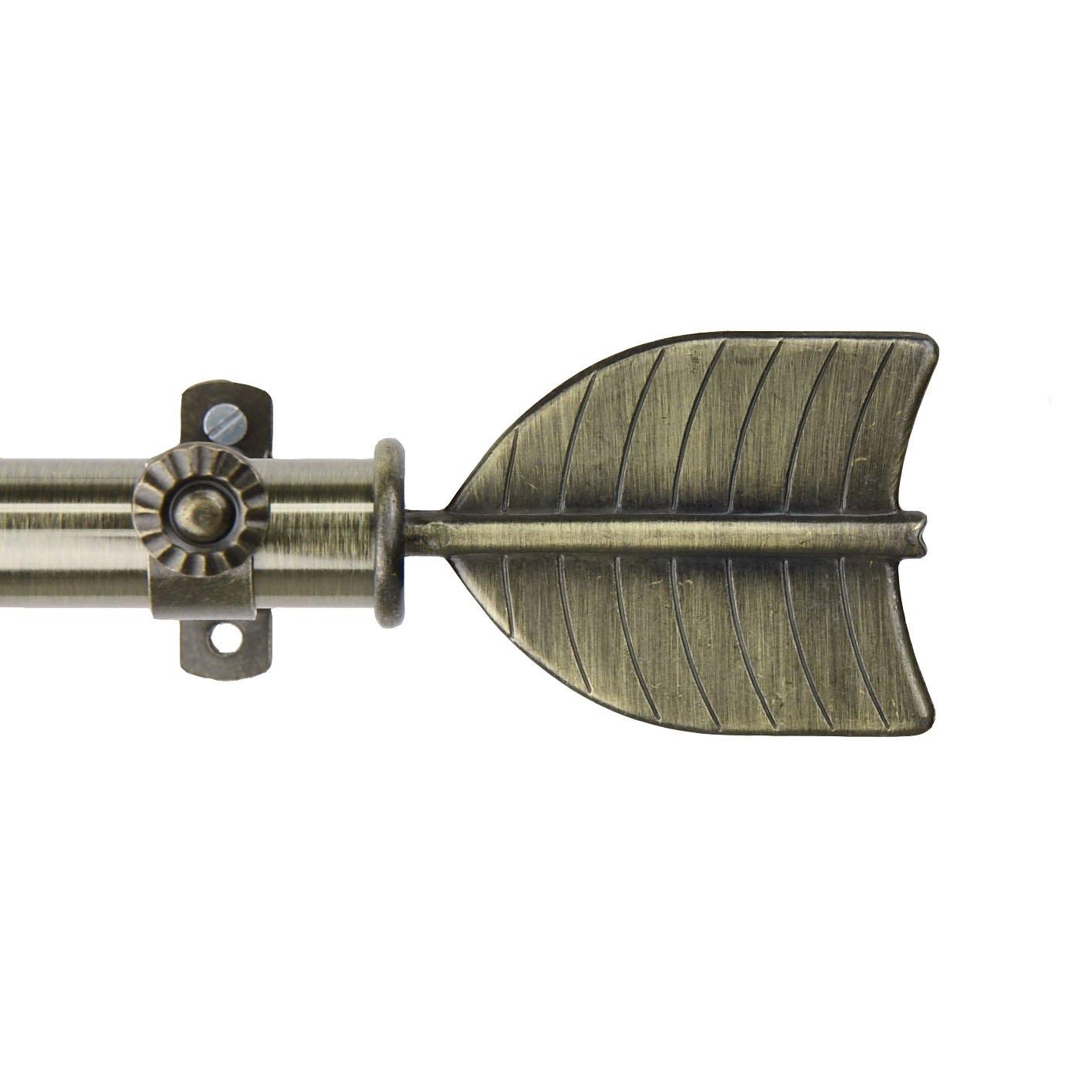 Feather Curtain Rod 48-84 inch - Antique Brass   B00DEYAQT4