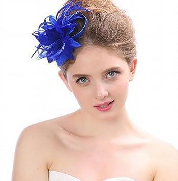 LJ Sombrero - Damas otoño e Invierno Tocado Sombreros de Novia Europeos y  Americanos British Elegante a122e933a08