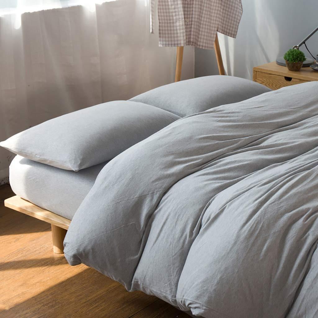 HEMFV シンプルなソリッドカラーのコットンベッド4つの寝具セット - 各セットには、ベッドカバー1つ、シーツ1つ、枕カバー2つが含まれています (サイズ さいず : 2.0M) B07RZYD9DP  2.0M
