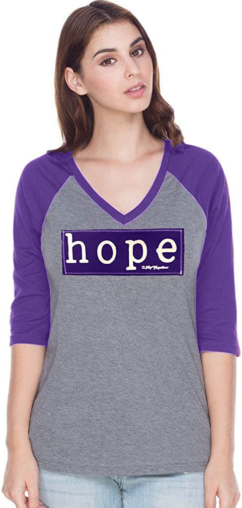 Hip Together Purple Hope Raglan (Women's XL)