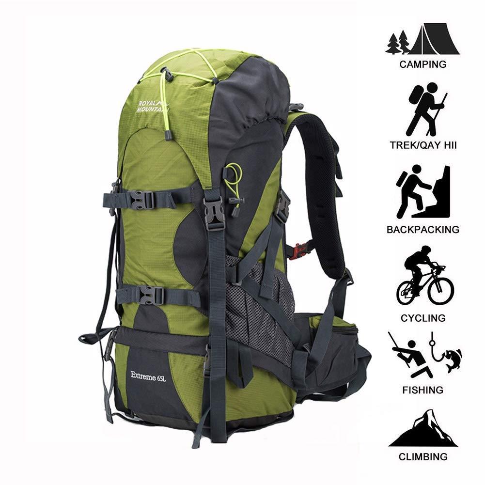 Backpack Rucksäcke Tagesrucksack 65L Wanderrucksack Leichter Dackpack Zum Wandern Camping Reisen ZHAOYONGLI (Farbe   Grün, größe   65L)