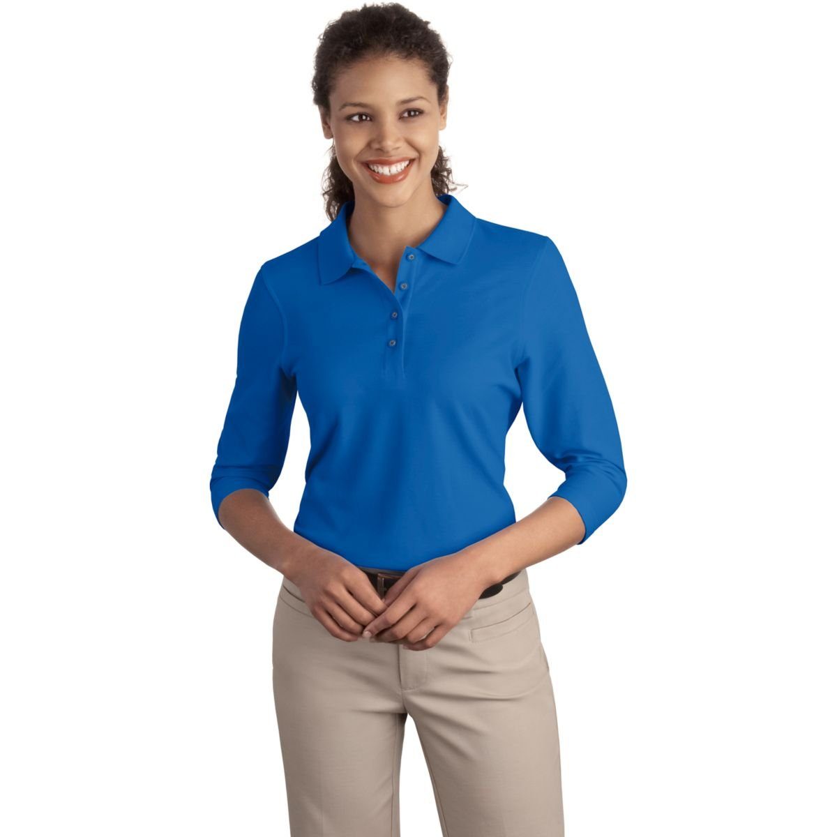 Royal XXL Port Authority Ladies Silk Touch 3//4-Sleeve Sport Shirt
