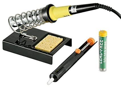 Fixpoint - Set de soldador (4 piezas), color negro