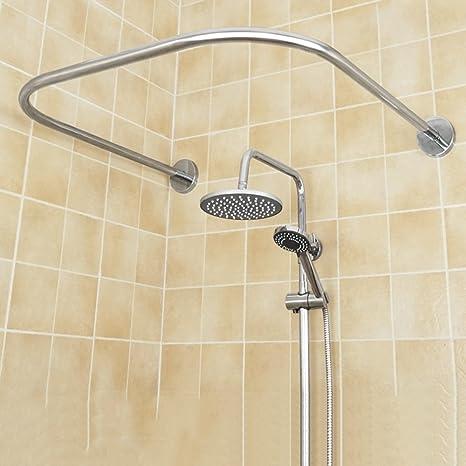 LJHA Barra para cortina de ducha / Acero inoxidable ...