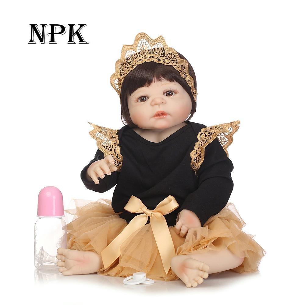 chinatera NPK Simulation Artificial Waterproof Soft Silicone Reborn Baby Dolls Lifelike Infants Girl Doll Toys for Photographic Prop by chinatera (Image #2)