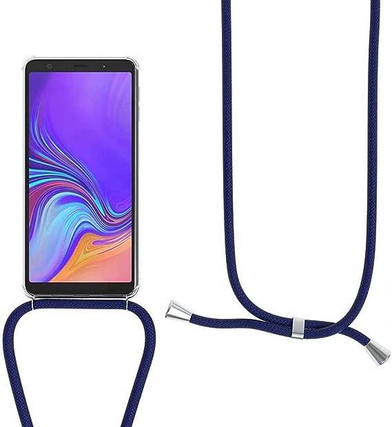 YFXP Funda Compatible con Xiaomi/Mi 8 Transparente TPU con Correa Colgante Ajustable Collar Correa de Cuello Cadena.