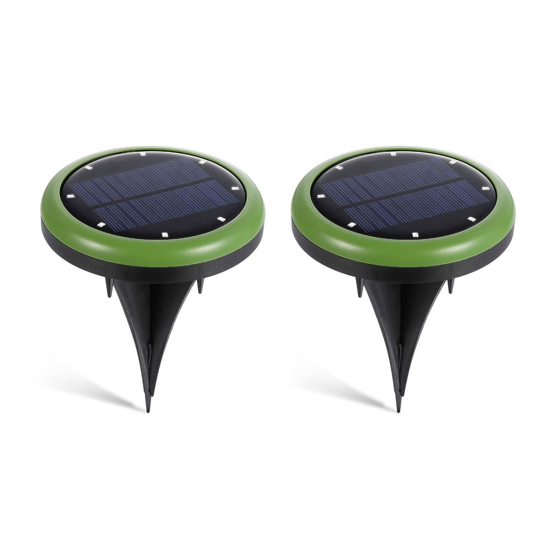 SODIAL allume le chemin de jardin impermeable a l'eau solaire de lumiere au sol allume avec 8 LEDs