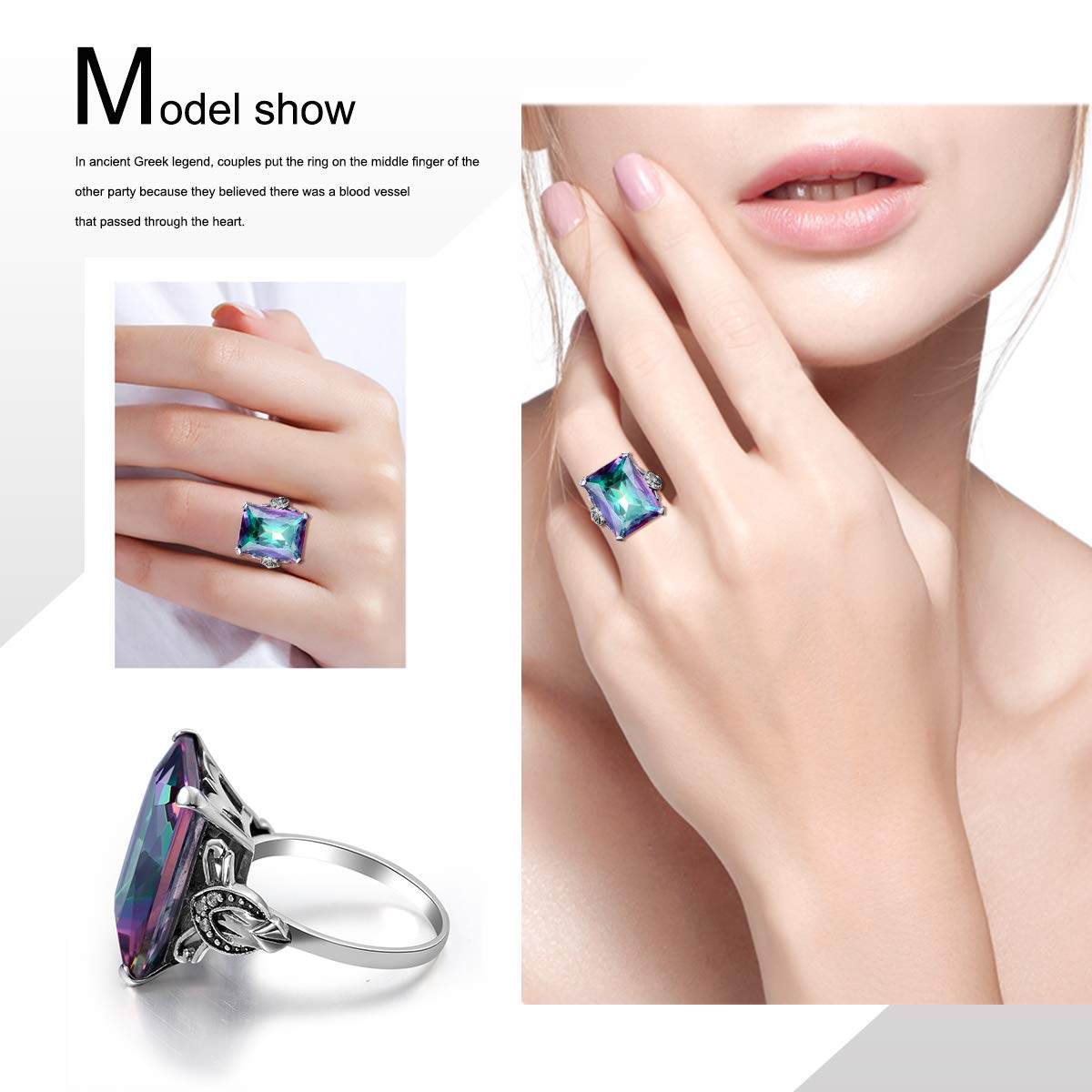 Rings Responsible Vintage Silver Plated Large White Red Green Blue Round Simulated Gemstone Rings For Women Costume Jewelry Rings Size 6 7 8 9