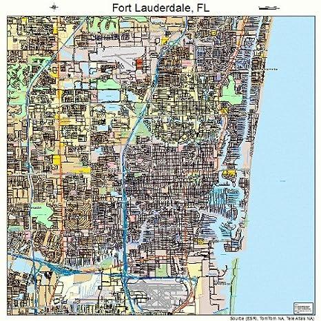 Lauderdale Florida Map.Amazon Com Large Street Road Map Of Fort Lauderdale Florida Fl