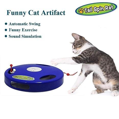 Interestmaker Juguete Interactivo para Gatos eléctrico, Juguete Interactivo, ratón con 5 Modos de Ejercicio
