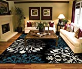 Rugs for Living Room 8×10 Black Clearance Area Rugs Large 8×11 Carpet