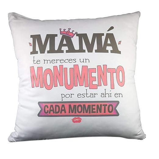 Cojin Con Frase Mamá Te Mereces Un Monumentoregalo Dia De La Madreregalo Para Mamá Regalos Día De La Madre
