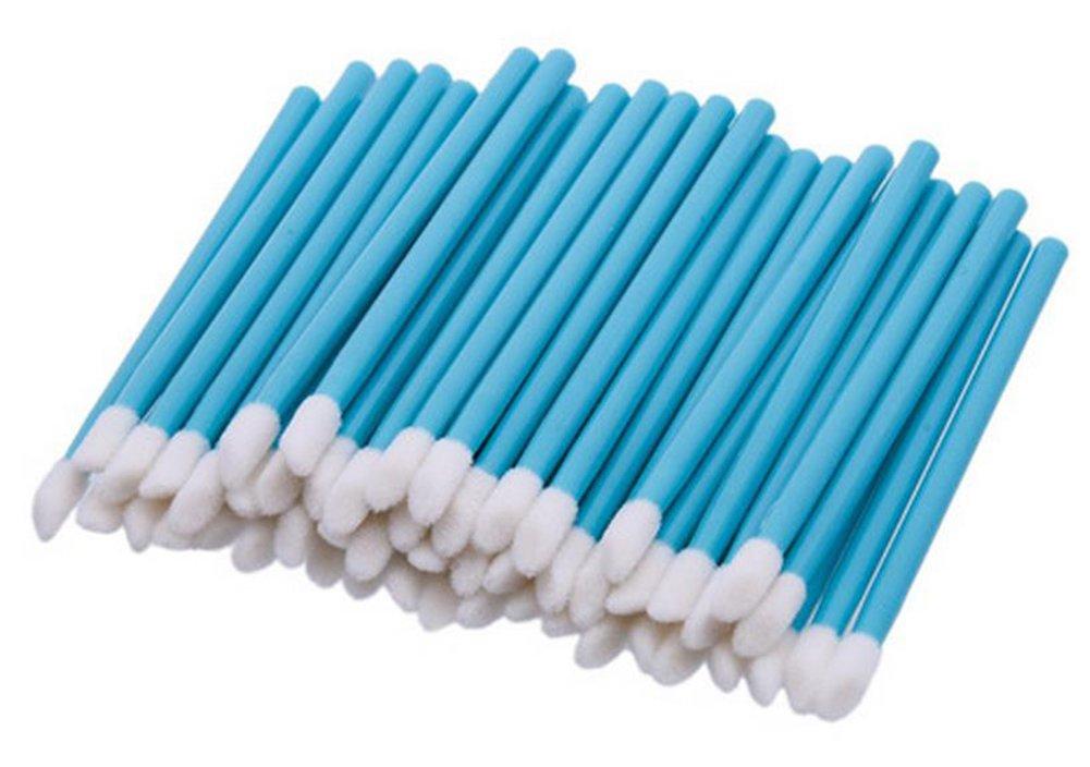 Youkara 50 Piezas Desechables Pincel de Labios Apto para Uso Doméstico o Profesional de Azul