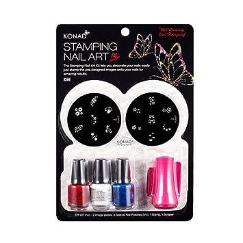 Amazon Konad Set Starter Kit For Stamping Nail Art C A Set